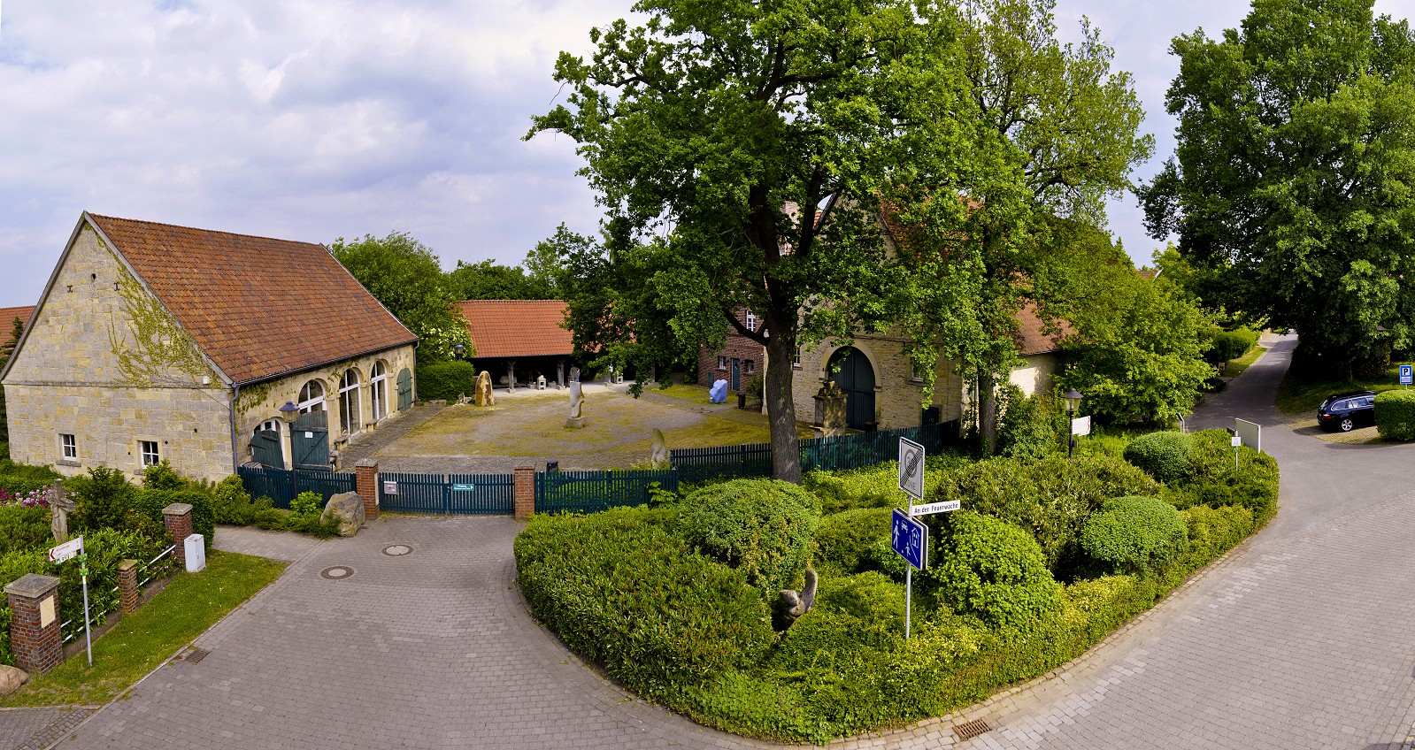 Hochbild mit Blick auf den Museumshof
